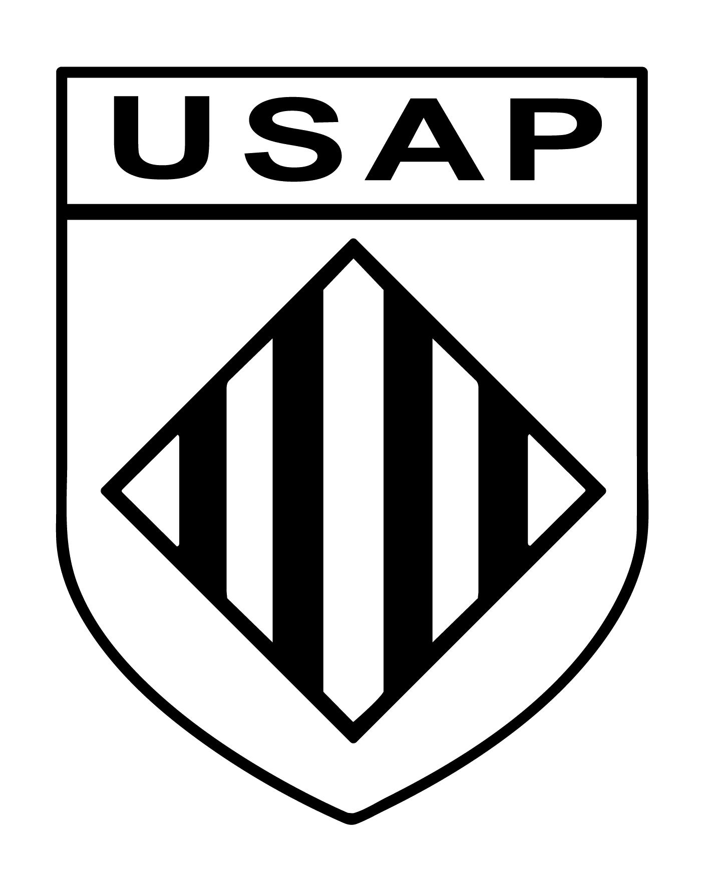 logo monochrome noir USAP-1