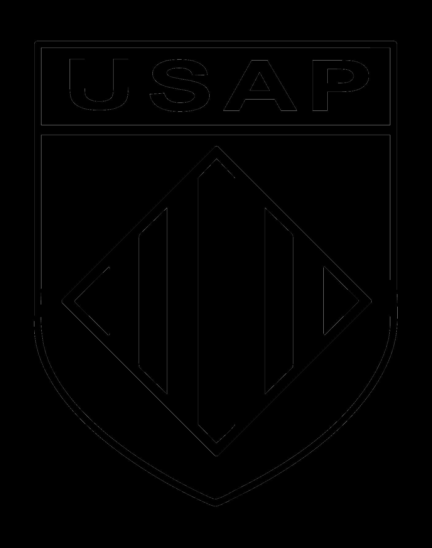 logo monochrome noir USAP